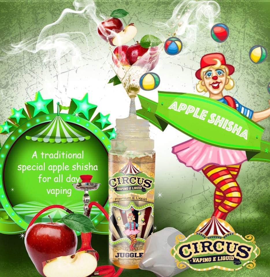 Apple Shisha-Circus E Liquid-60ml